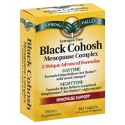 Spring Valley Black Cohosh Menopause Complex Tablets, 60 Ct