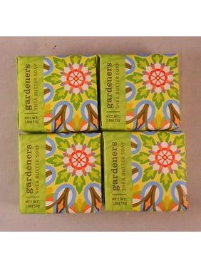 Greenwich Bay Shea Butter Luxury Spa Soap, 1.9 oz. - Set of 4 GARDENERS SHEA BUTTER Bars