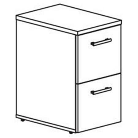 Underdesk File-File, 15.75 in. x 22 in. x 27.2 in., Mahogany Aspira Underdesk Pedestal File