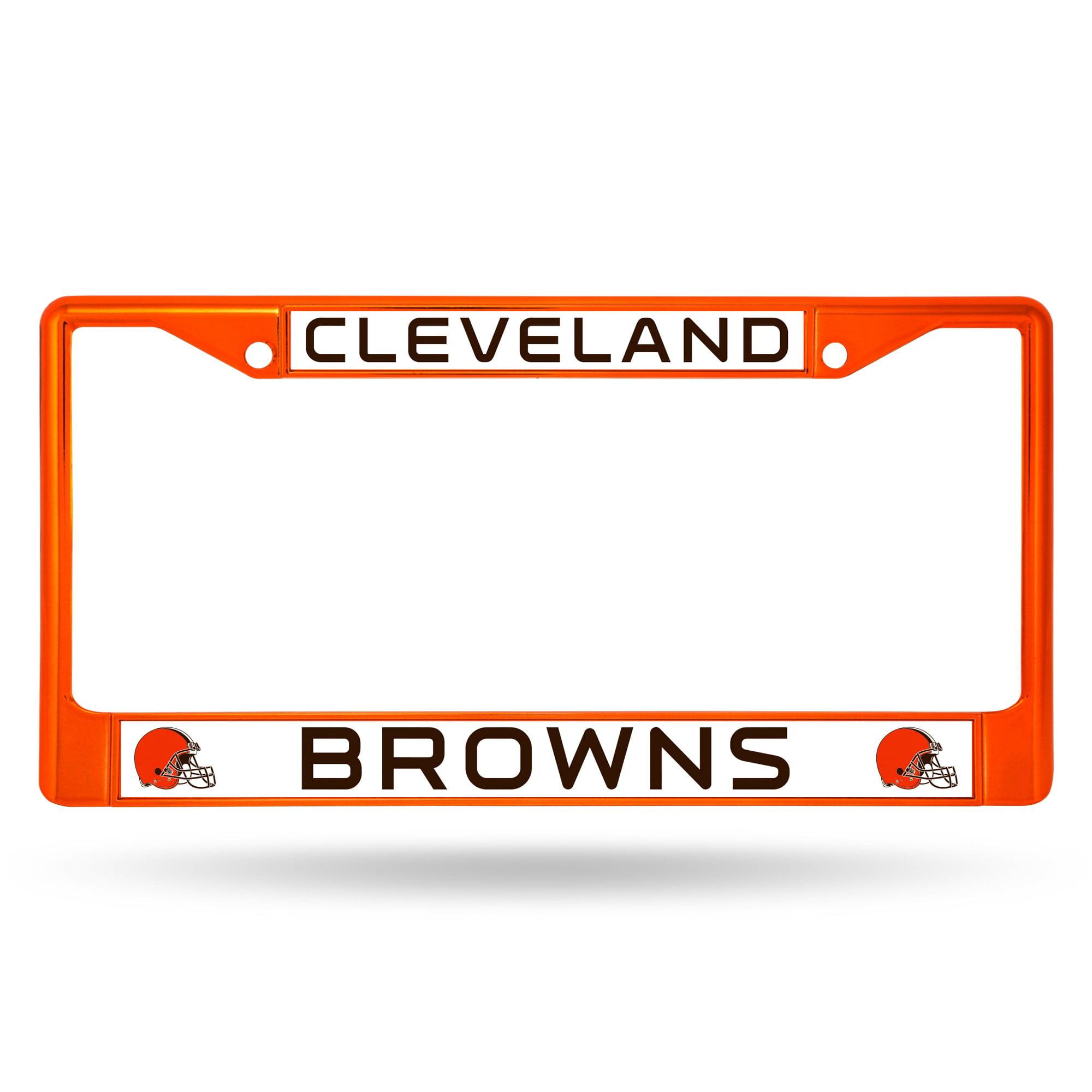 Rico Industries Cleveland Browns NFL Orange Color License Plate Frame