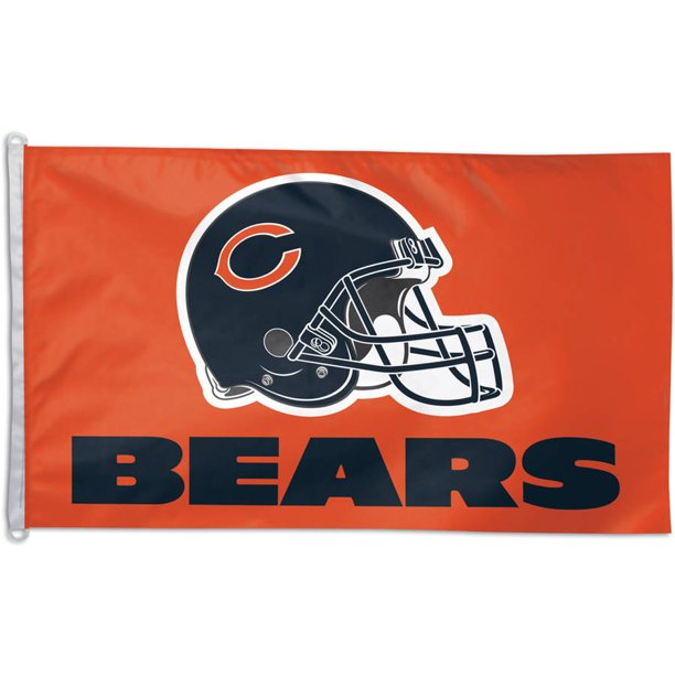 WinCraft Chicago Bears 3' x 5' Single-Sided Horizontal Flag