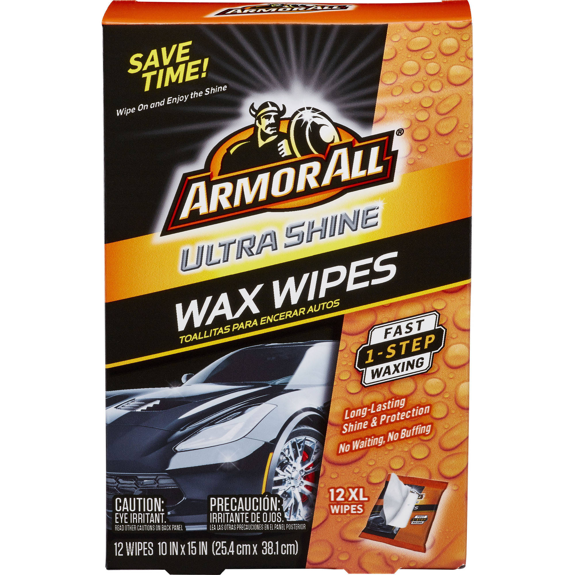 Armor All Ultra Shine Wax Wipes, 12-ct, Auto Wax