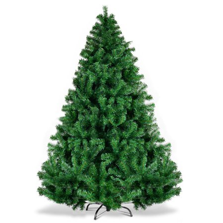 Gymax 6' Christmas Tree 1000 Tips Premium Hinged Artificial PVC Holiday Decor ()
