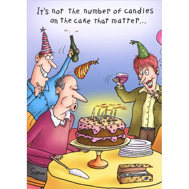 Oatmeal Studios Man Blowing Out Candles Funny Humorous Masculine 70th Birthday Card For Him Man Walmart Com Walmart Com