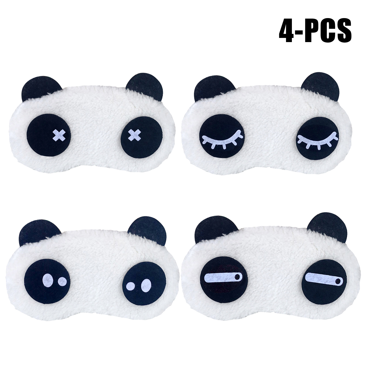 4Pcs Sleeping Masks set, Coxeer Cartoon Panda Sleeping Eye Masks Eye Sleep Covers Sleeping Eyeshades for Women Men Teen Boys Girls,Multicolor
