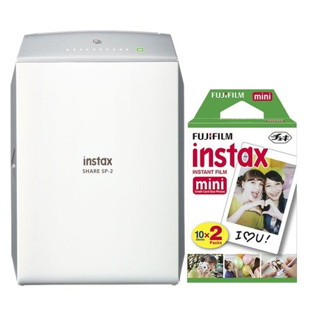 Fujifilm Instax Share Sp 2 Smart Phone Printer Gold With 20 Instant Films