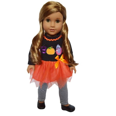 My Brittany's Halloween Boo Outfit for American Girl Dolls and My Life as Dolls-18 Inch Doll Clothes for American Girl Dolls and My Life as Dolls (Doll Halloween Tutorial)