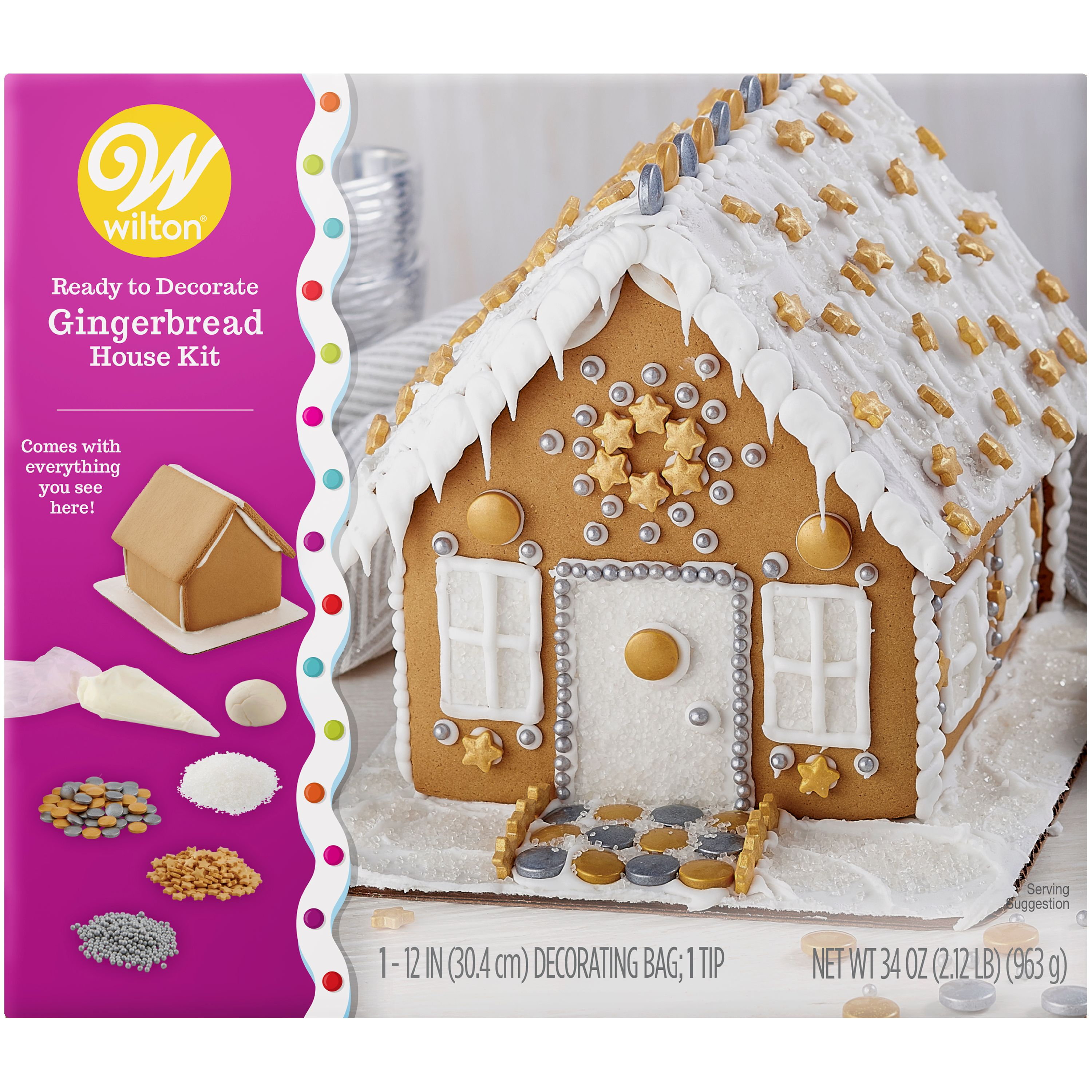 Kid Decorating Create A Treat Gingerbread Cookie Man Kit 6.2 oz