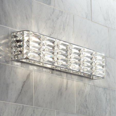 Possini Euro Design Modern Wall Light Chrome Hardwired 24 1/2