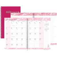 House of Doolittle BCA Pink Cover Monthly Wirebound Journal