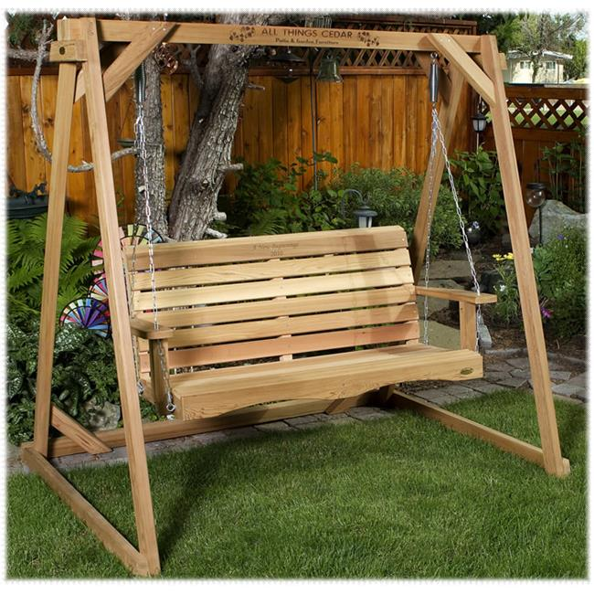 All Things Cedar AF90U-S 5ft.  Swing with A-Frame Set