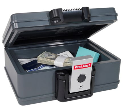 First Alert 2017F Water and Fire Protector File Chest, 0.19 Cubic Feet by FIRST ALERT-SAFES