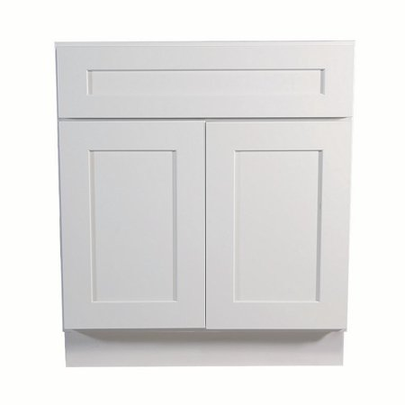 Design House 561381 Brookings Unassembled Shaker Base Kitchen Cabinet 30x34.5x24, White