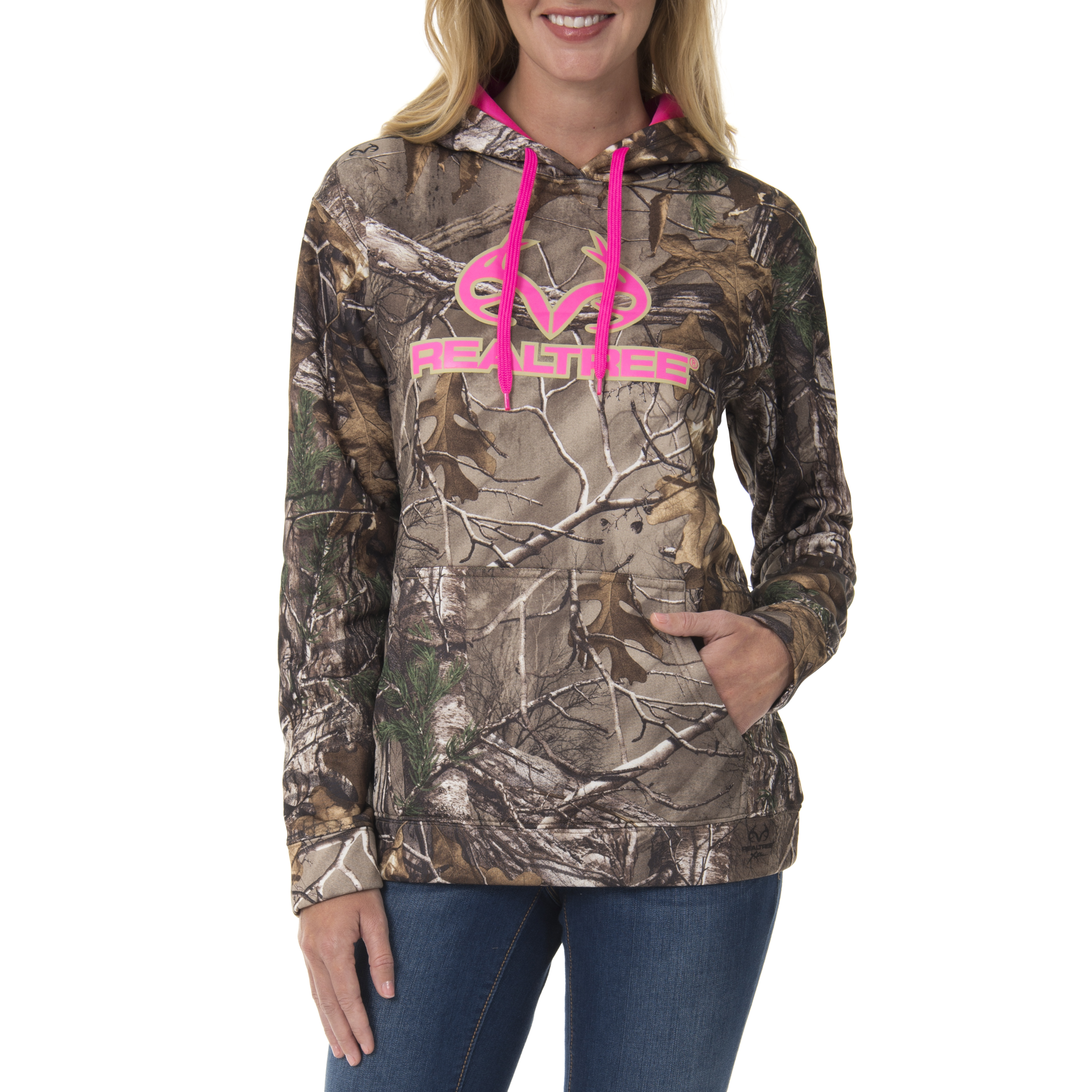Mossy Oak and Realtree Womens Performance Pullover Hoodie
