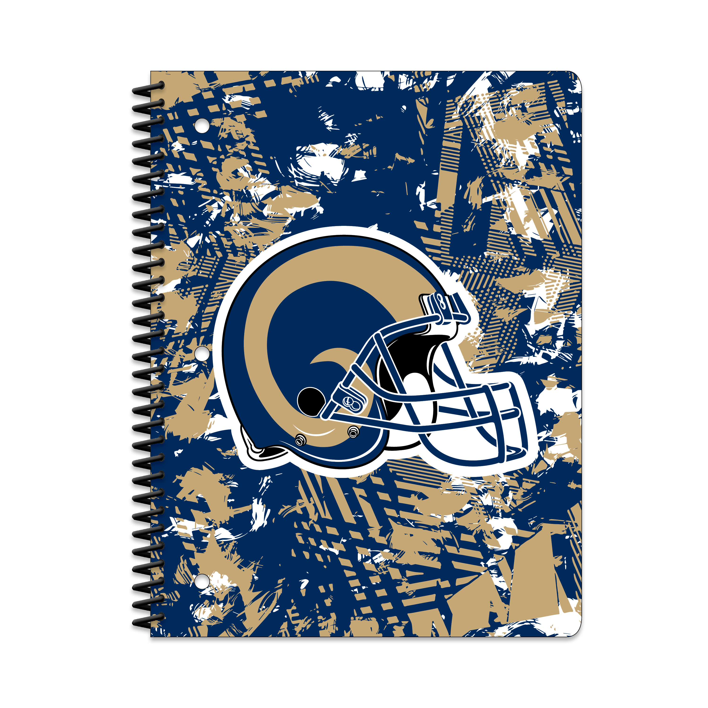 LOS ANGELES RAMS ACTIVE STATIC 1-SUBJECT NOTEBOOK