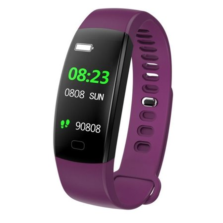 Fitness Tracker Color Screen, IP68 Waterproof Activity Tracker Smart Watch Remote Photography Heart Rate Blood Pressure Blood Oxygen Monitor Step Calorie Counter Pedometer-Purple