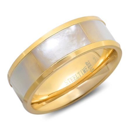 Dot Mother Of Pearl Ring - Hmy Jewerly 18k Gold Plated Mother Of Pearl Ring