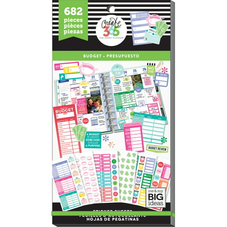Happy Planner Sticker Value Pack-Budget Fill-In, 682/Pkg (Happy Face Valu Pak Stickers)