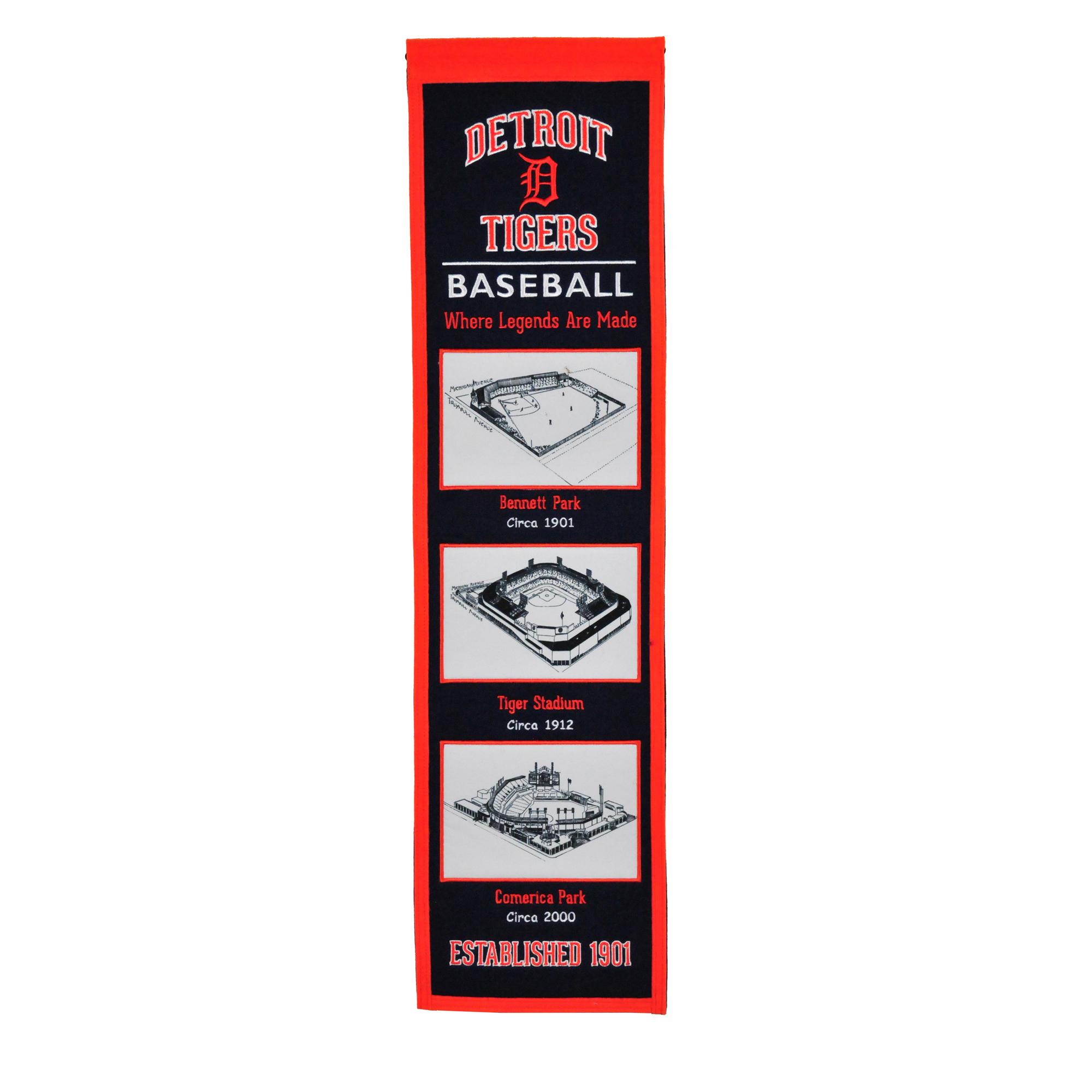 """Detroit Tigers 8"""" x 32"""" Stadium Evolution Banner - No Size"""