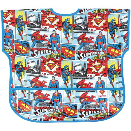 (Superman Newborn Baby Boy Junior Short Sleeve Bib)