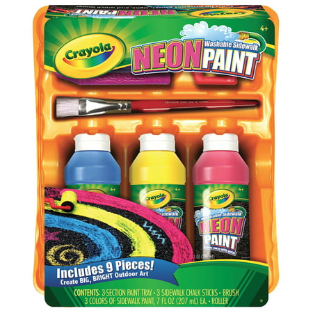 Crayola Neon Sidewalk Paint Tray Set for $<!---->