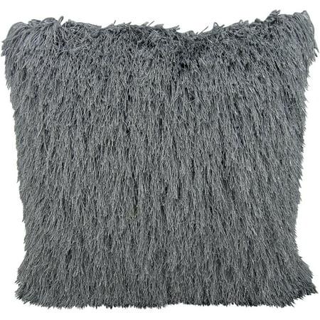 Nourison Yarn Shimmer Shag Decorative Pillow 40 X 40 Walmart Inspiration Shaggy Decorative Pillows