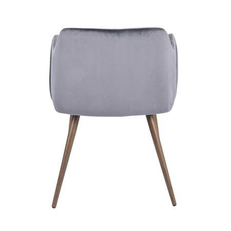 FurnitureR Dining Room Upholstered arm chair (2-piece set),GREY - image 3 de 8