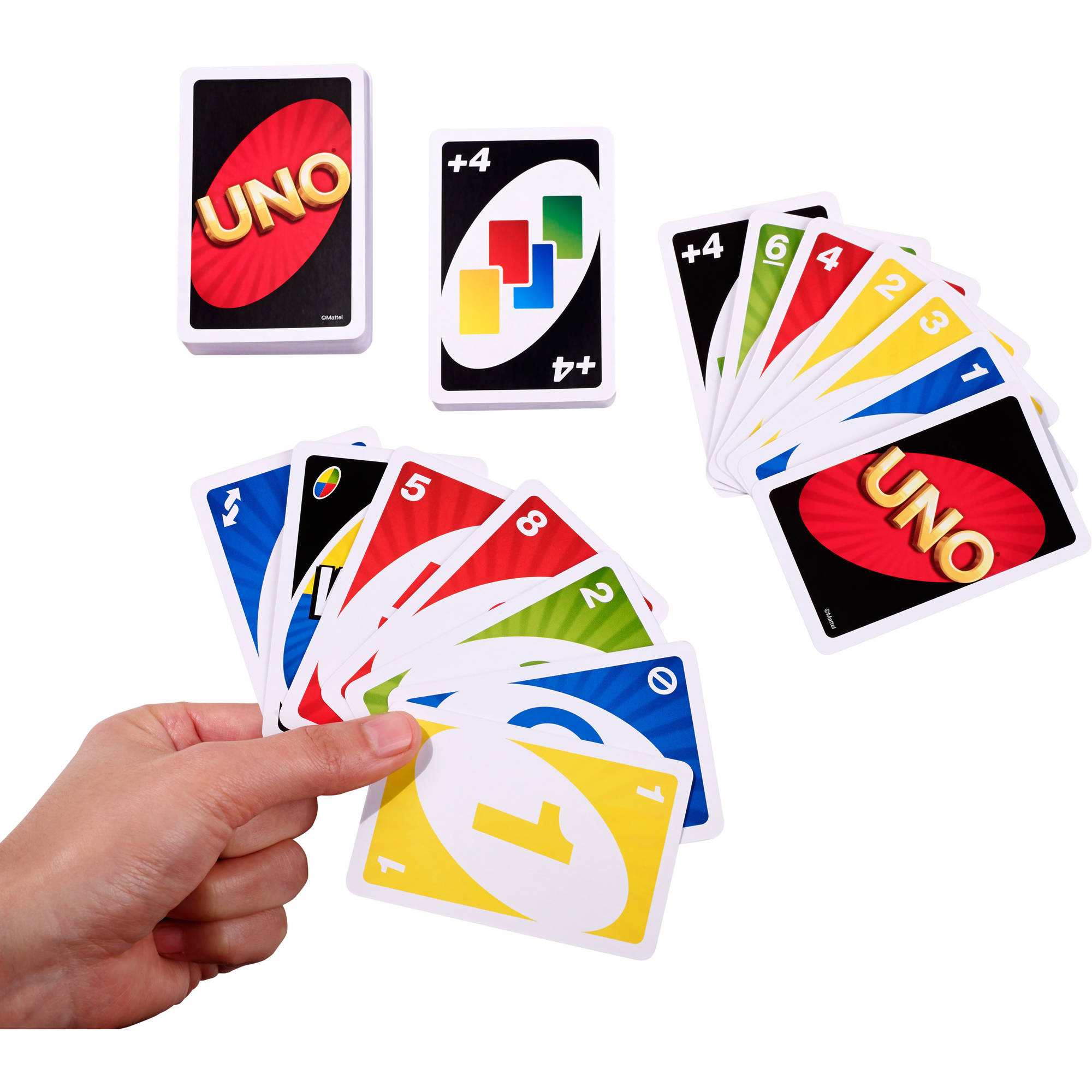 Uno Card Game Color And Number Matching For 2 To 10 Players Ages 7