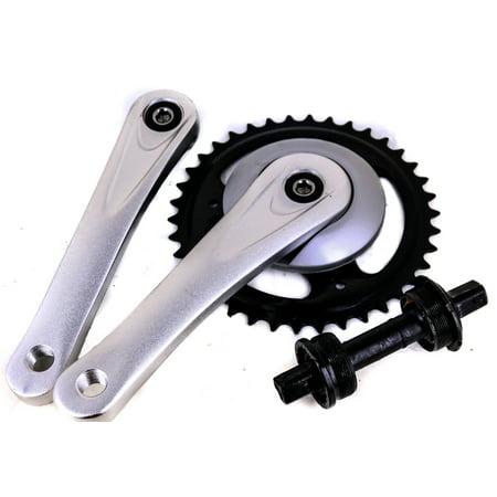Mountain Bicycle Crankset (ProWheel Square Taper Single Speed Cruiser Bike Crankset 170mm 38T)