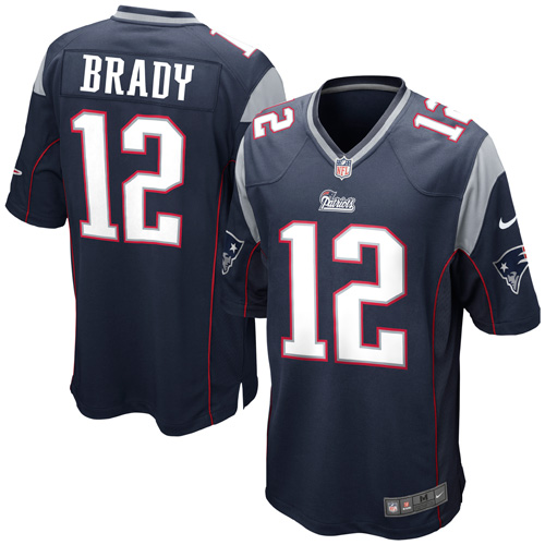 Tom Brady New England Patriots Nike Game Jersey - Navy Blue - XXL