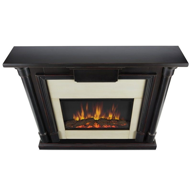 Real Flame Maxwell Indoor Slim Electric Fireplace in Black