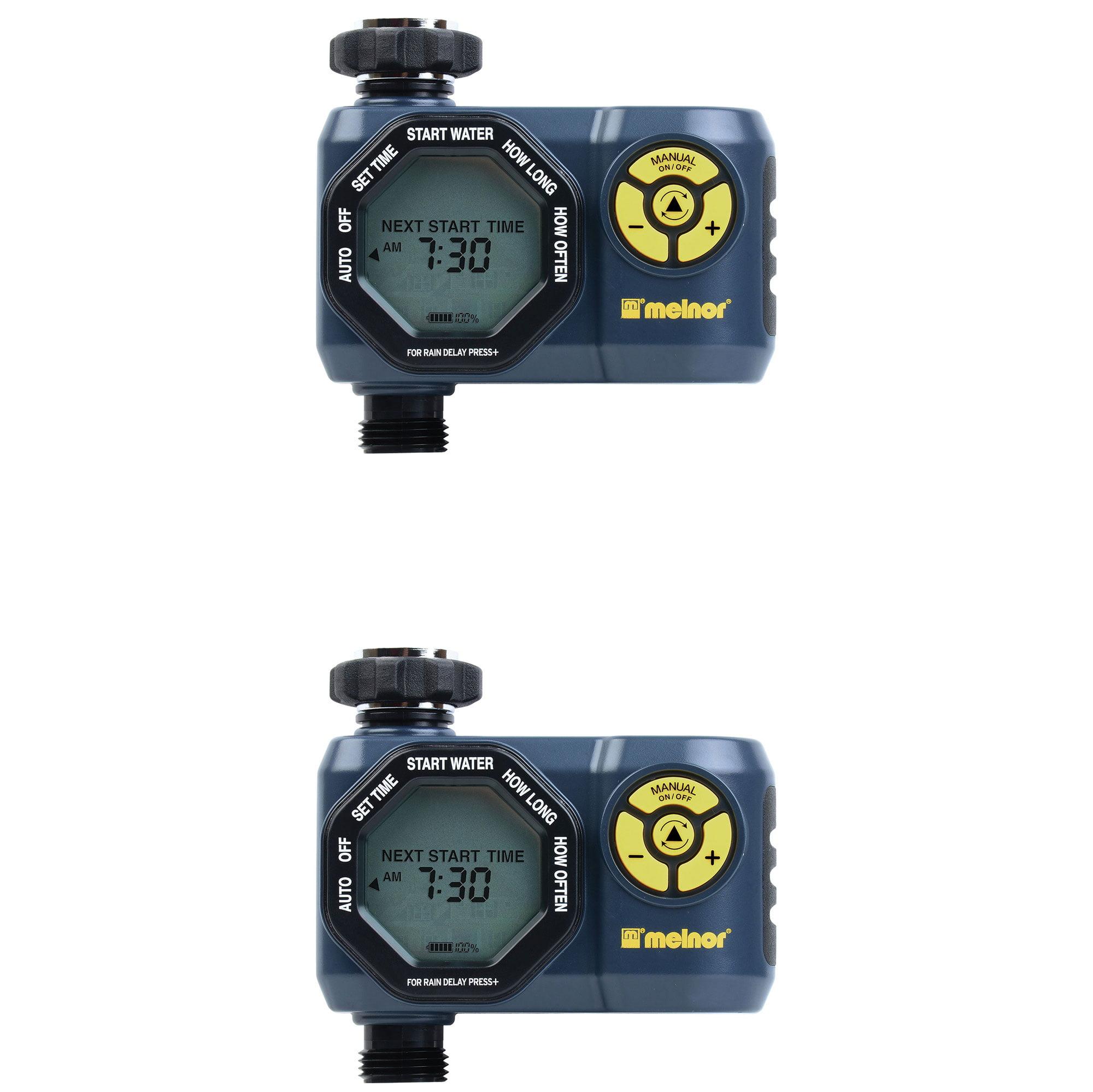 Melnor Digital 1 Zone Programmable Water Timer & Controller for Garden (2 Pack)