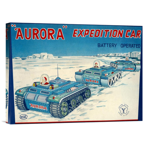 Global Gallery 'Aurora Expedition Car' by Retrotrans Vintage Advertisement on Wrapped Canvas