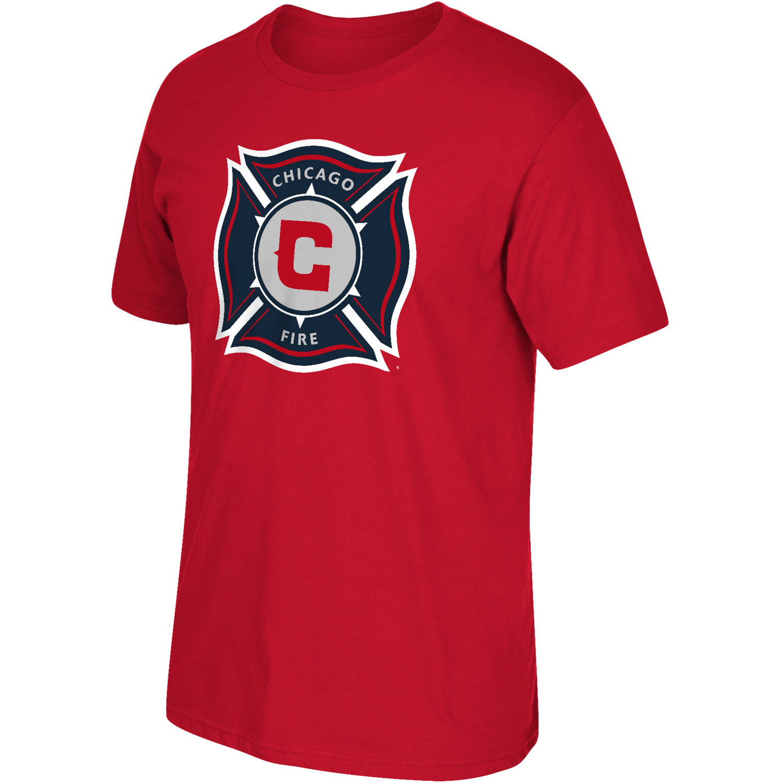 MLS Chicago Fire Big Mens Oversized Logo Short Sleeve Tee, 2XL