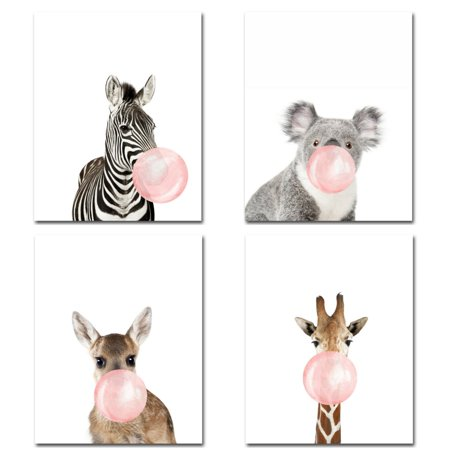 31 50 X23 62 No Framed Safari Baby Animals Nursery Decor