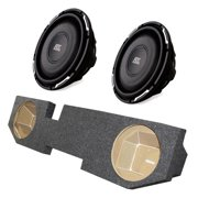 "2) MTX FPR10-04 10"" 600W Slim Subs + 2) for Dodge Ram Quad Cab '02-15 Truck Box"