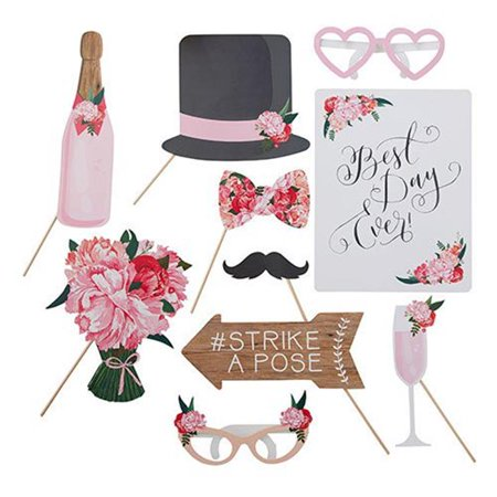 Weddingstar T316 Wedding Photo Booth Props Floral Whimsy