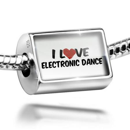 Bead I Love Electronic Dance Charm Fits All European Bracelets