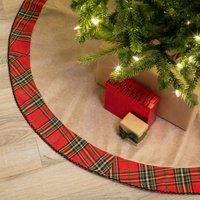 "Belham Living Rustic Plaid Cotton Christmas Tree Skirt, 48"" diameter"