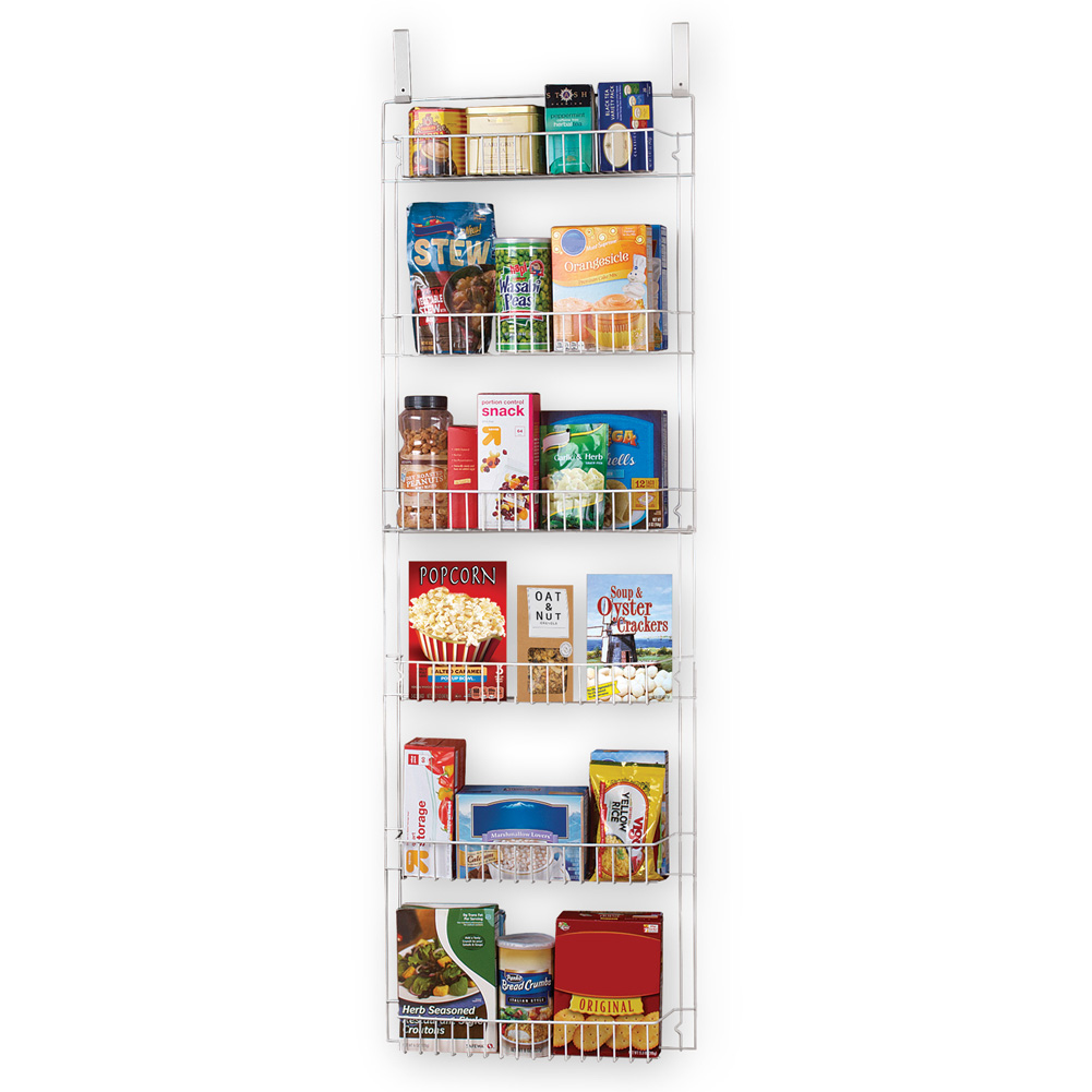Over the Door Organizer Rack, 5Ft - For Pantry, Bathroom, Spices