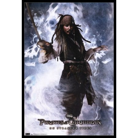 Pirates of the Caribbean 4 On Stranger Tides Captain Jack Sparrow Poster Poster Print Captain Jack Sparrow Poster