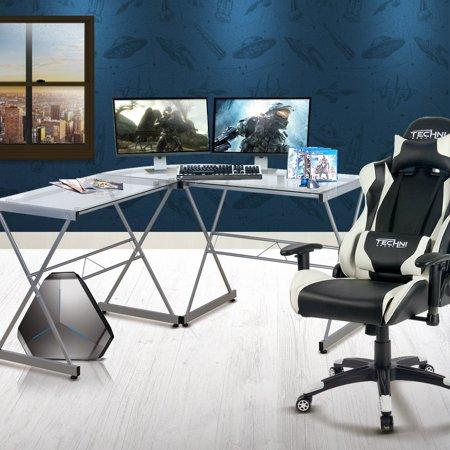 Gaming Desk - Techni Sport Rigel - Black Sandusky Steel Desk