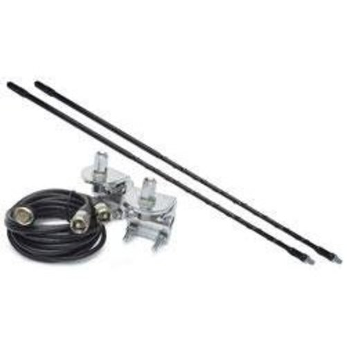 Solarcon 4ft Top Loaded Dual CB Antenna Mirror Mounts/Cab...