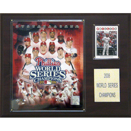 C & I Collectibles MLB Phillies 2008 World Series Champions Plaque