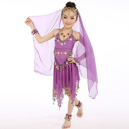 Handmade Children Girl Belly Dance Costumes Kids Egypt Dance