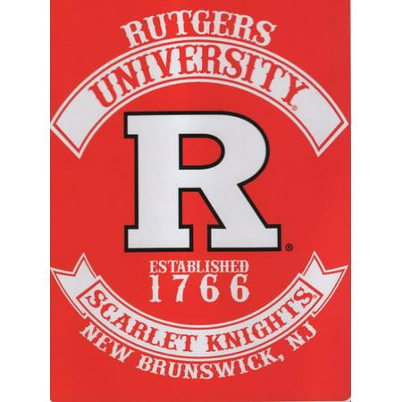 Rutgers Red Knights NCAA Rebel Series Raschel 60x80 Twin Size Throw/Blanket