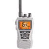 Cobra MR HH350W FLT VHF-HH, 6 Watt, Floats, White This floating radio has an orange core for higher visibility and is easy to retrieve if dropped overboard. It features 6 watts of power for longer range communications and full access to all NOAA weather channels and alarm tones for weather emergencies.