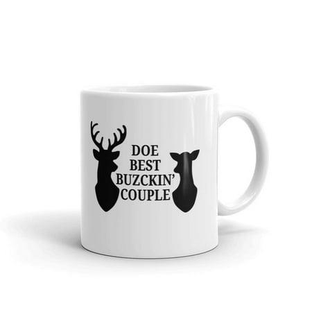 Doe Best Buckin' Couple Deer Hunting Coffee Tea Ceramic Mug Office Work Cup Gift 11