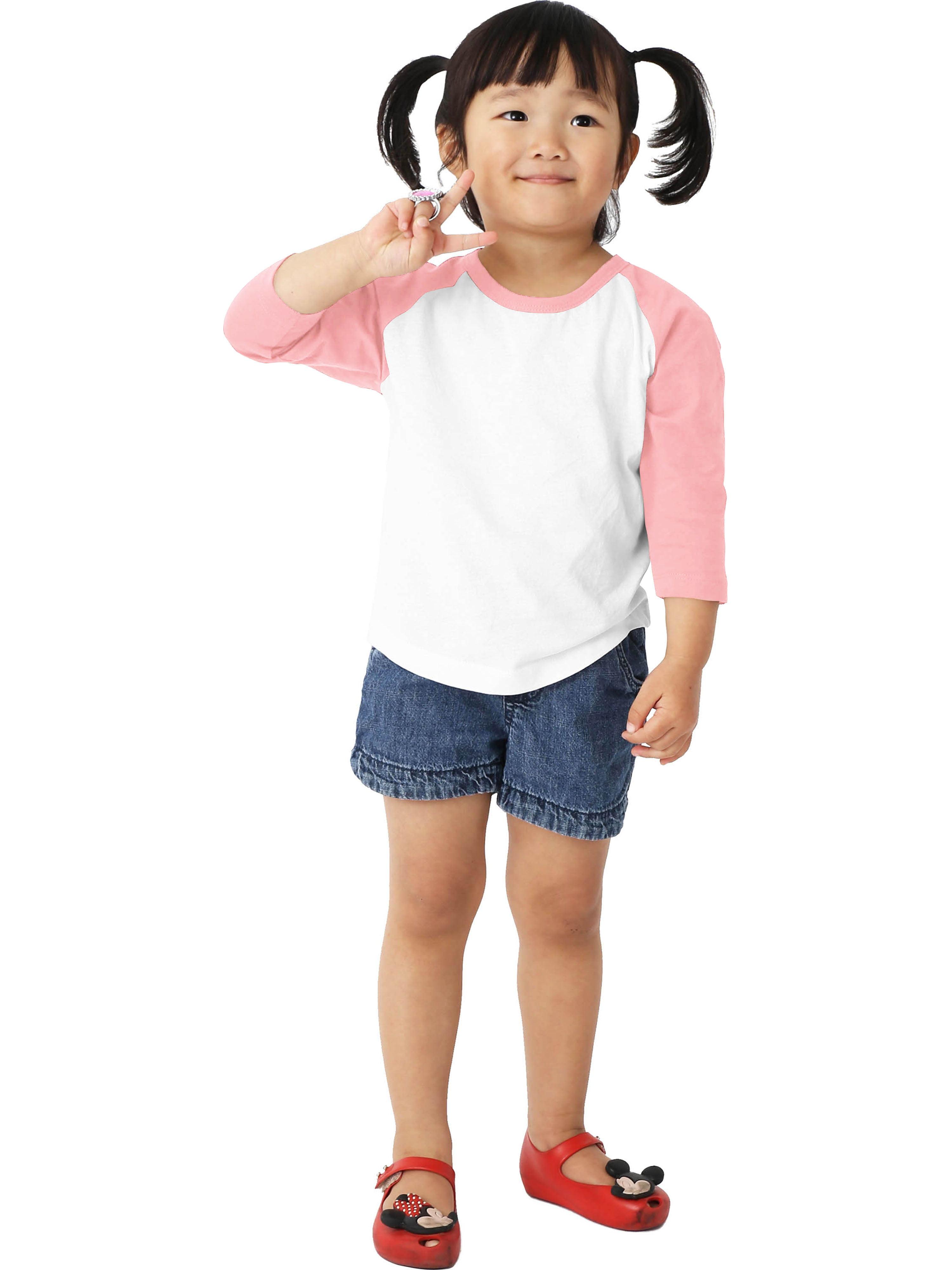 Infant Baseball Raglan T-Shirts 3//4 Sleeve Jersey Tee Boys Girls Baby Preschool