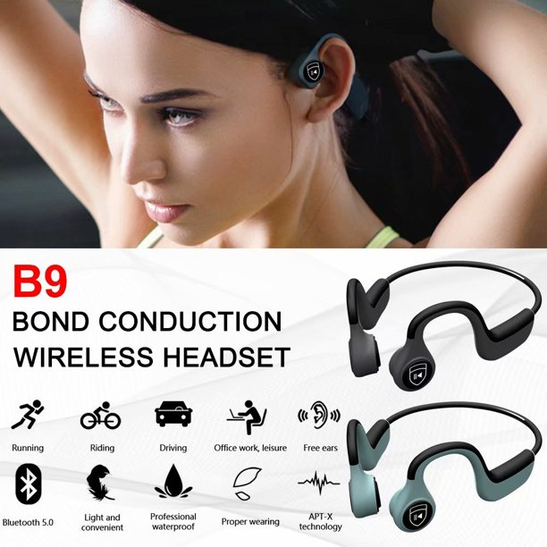 Akoyovwerve B9 Wireless Bluetooth Headphones Headset Stereo Neck Strap Headset Bone Conduction Hands Free Earphone Sport Headphones Walmart Com Walmart Com